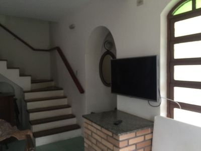 Photo for Excellent beach house w / Barbecue / Pizza oven, terrace and sea view