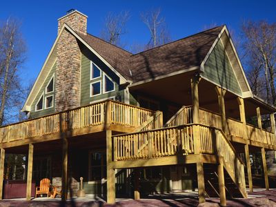 "Photo for Lake Harmony's ""Lupine Lodge,"" a Brand New Spacious Mountain Chalet"