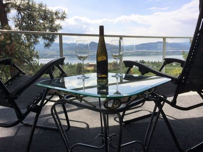 Relax with a local bottle of wine while taking in  the wonderful views!
