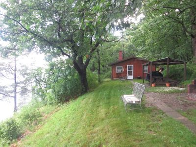 Photo for Romantic getaway or family vacation on 10 acres with beach!
