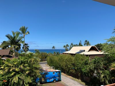 Photo for Cute 1 bedroom w/ Ocean View across from Turtle Beach and close to Kona Village