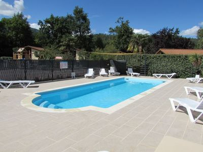 Photo for Chalets in village of gites with swimming pool