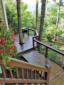 You private deck with mountain view