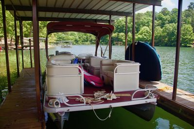Rent this pontoon boat for added fun!  Great for tubing.