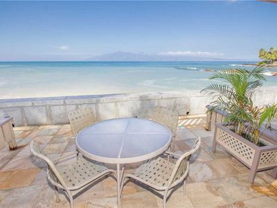 Photo for Kahana Sunset F2, 2 BD / 2.5 BA - Deluxe Ocean Front View without leaving your condo