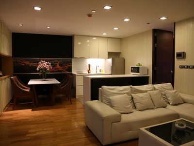 Photo for A Spacious 1 Bedroom Condo in Bangkok CBD, 1 minute walk from Sky train