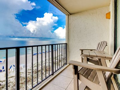 Photo for Gulf-front condo w/ breathtaking views, shared pool, & on-site tennis courts