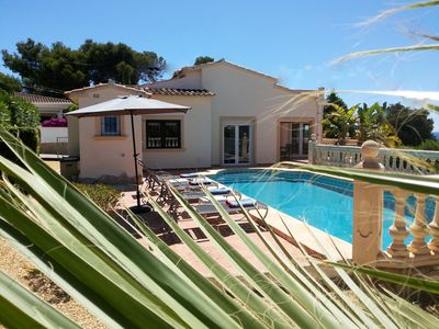 Photo for 1st Class Villa with Private Pool and Sea Views