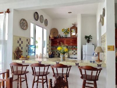 Mexican Talavera Pottery collection  - best equipped kitchen around!