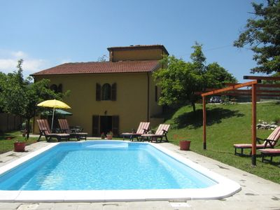 Photo for Peaceful restored village house with garden & private pool, close to facilities