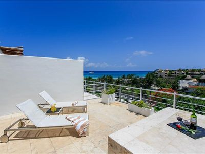 Photo for Great Magia penthouse w/ ocean view, private pool, perfect for family!