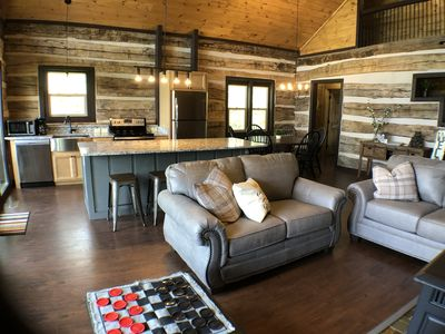 Photo for Secluded barnwood cabin w/View, 2 Master King Suites, near Downtown, sleeps 6!