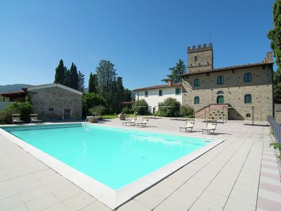 Photo for Lovely estate not far from Florence, on a hill with olives trees and cypresses.