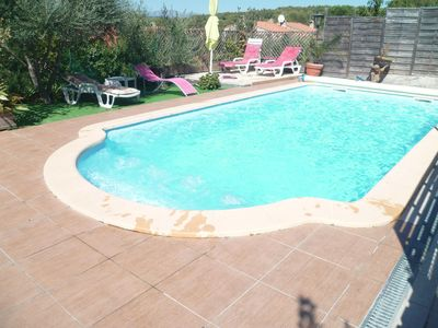 Photo for Villa 6 pers with private pool (HEATED not overlooked)