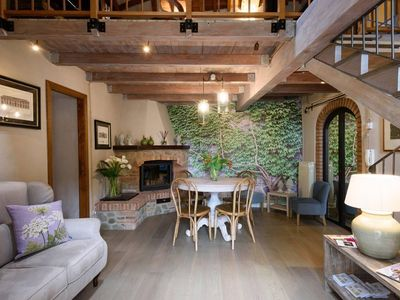 Photo for Medieval Delight! Balcony, Rustic Beams & Brick Fireplace w/Modern Amenities
