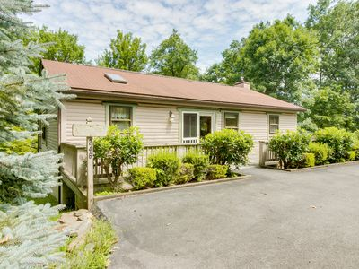 Photo for Forest view home w/ wrap-around deck - minutes to the lake & Wisp Resort!