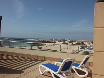 Photo for Marfolin 29. El Cotillo Beach front 2 bedroom apartment with roof terrace. WiFi