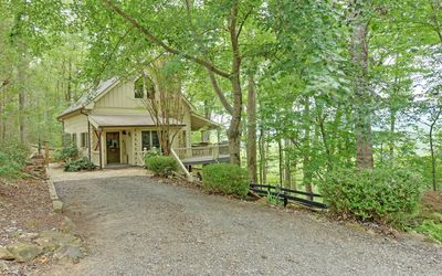 Photo for Exceptional Views! outdoor fireplace, hot tub, pet friendly-fenced yard.