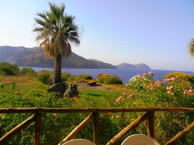 Photo for Panoramic two-room apartment with large patio at Vulcano