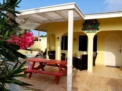 Photo for Charming bungalow with pool & close 2 beach! Full equipped & a/c.