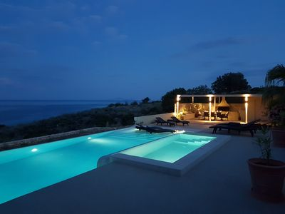 Photo for Luxury Villa with Jacuzzi, Infinity Pool And Spectacular Sea & Mountain Views
