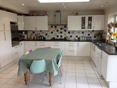 Photo for Spacious 5 bed family house, large garden, walk to train station and shops. wifi