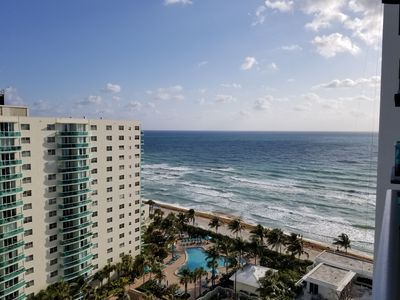 Photo for Beautiful and Spacious Ocean-view 2/2 Condo Located on the Beach