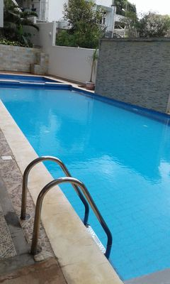 Photo for Private 1BR Beach Apartment wz Aircon,free WIFI,Pool,Seaview balcony, elevator