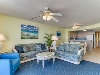 Photo for Crescent Shores 802, 3 Bedroom Beachfront Condo, Hot Tub and Free Wi-Fi!