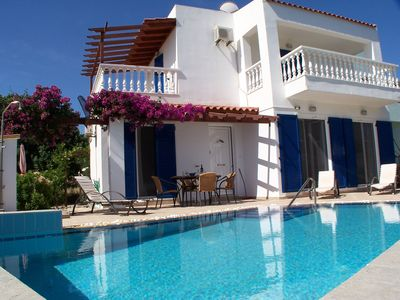 Photo for Near Lindos, beautiful Villa with private pool, stunning sea views, WiFi, Aircon
