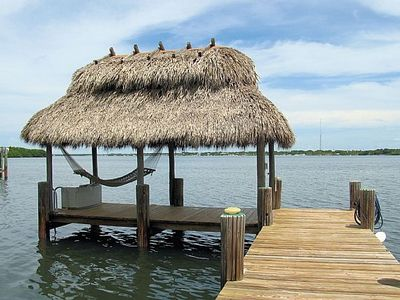 Bayfront Fishing Dock with Chickee Hut and Hammock on Sunset Cove