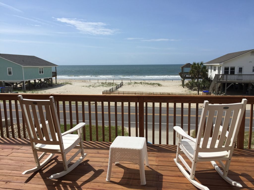 Excellent Views From This 2nd Row Home With Beach Access
