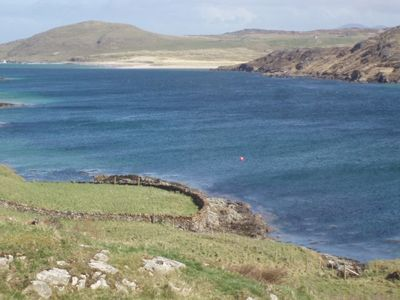 View across Mulroy Bay in front of Inverbeg cottage