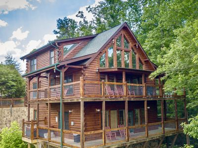 Photo for Panoramic Paradise - $150K Renovation~Breathtaking Views~Fast WiFi~Big Game Room