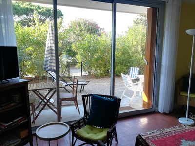 Photo for Garden level 100m from the beach for 4 people, in gated community
