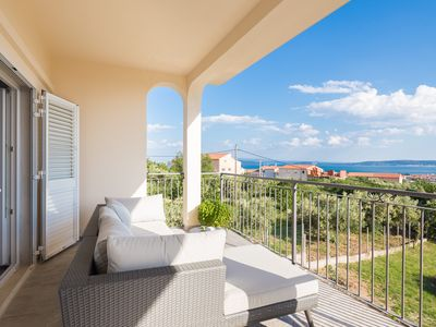 Photo for Panoramic Sea Views - Amazing 7 BR 5 BA rental for 20 near Split and Trogir