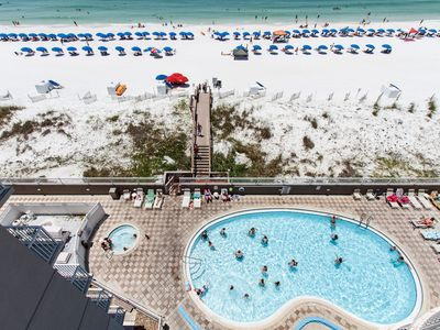 Balcony View - This condo offers a great viewing spot for watching the activities on the beach and at the pool area below.