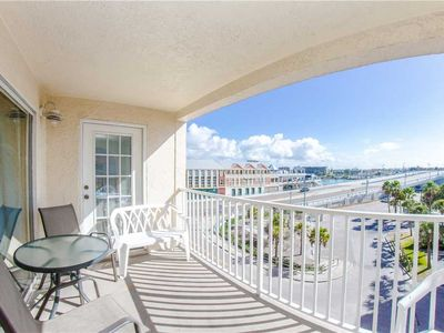 Photo for Large Corner Unit with John's Pass Views in Beach Side Complex - Free Wifi - Beach Place 401
