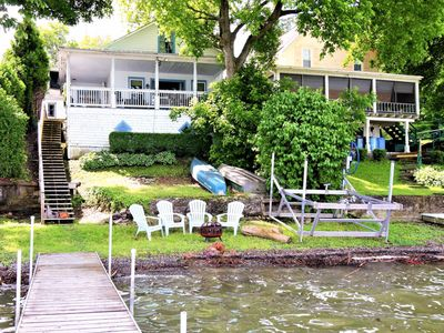 Photo for Lakefront home on Keuka Lake w/ beach, dock & firepit - 2 dogs welcome!