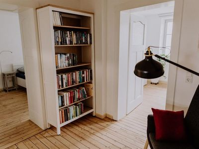 "Photo for Apartment ""Living with books"" - ""Living with books"", shower, toilet, 2 bedrooms"