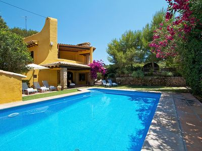 Photo for 4 bedroom Villa, sleeps 8 in Sant Vicent de sa Cala with Pool, Air Con and WiFi