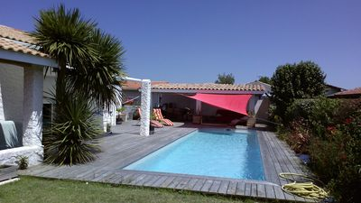 Photo for Villa 6 people with swimming pool with salt 11x3 large south facing terraces