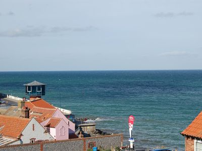 Photo for Top floor apartment with fantastic views over the town with far reaching views out to sea.