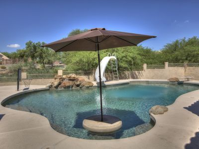 Photo for 4 Bedroom Single Story Golf Course Home, Heated Diving Pool + Slide, & Hot Tub