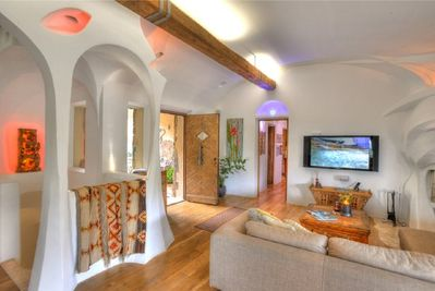 Open plan lounge and living area.