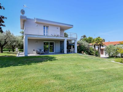 Photo for New villa 50 meters from the beach with pool and private garden!