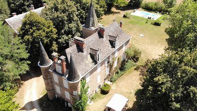 Photo for Chateau de Sarrazac, private property with heated pool