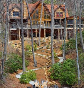 Photo for Gorgeous Nantahala Lake Front Log Home Retreat, SEE VIDEO #3 in pics
