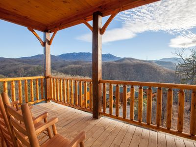 Photo for Views, Views, Views!!!!! NEWLY BUILT 2018 LUXURY CABIN WITH STUNNING VIEWS...