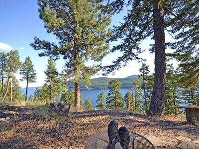 Photo for Lodgepole Ridge Cabin- Sweeping Views of Whitefish Lake, Sleeps 8!
